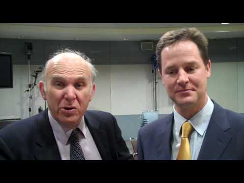 Nick Clegg & Vince Cable: Ready for Election 2010