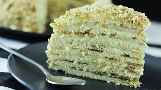 Торт на сковороде со сгущенкой на скорую руку Торт за час без духовки и печенья