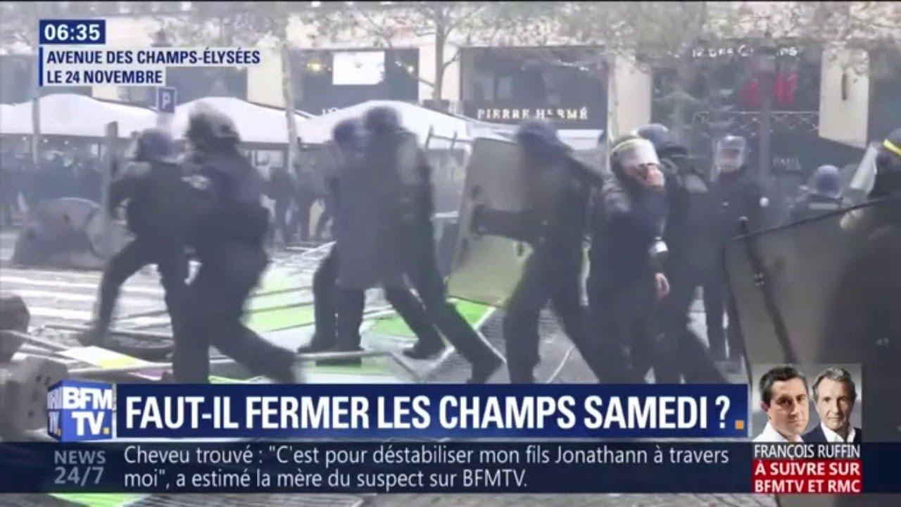 Gilets jaunes: faut-il fermer le secteur des Champs-Élysées samedi ?