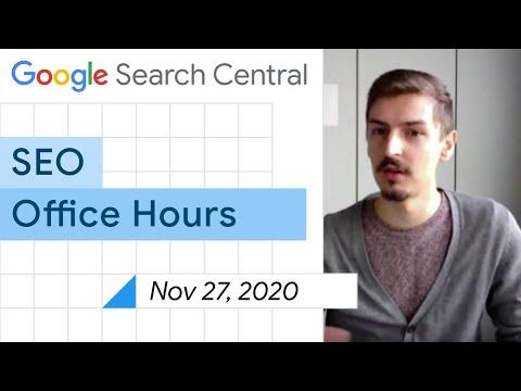 English Google SEO office-hours from November 27, 2020
