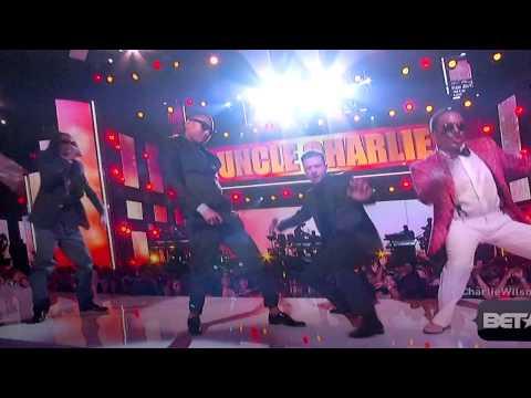 Justin Timberlake, Pharell, Charlie Wilson Dancing