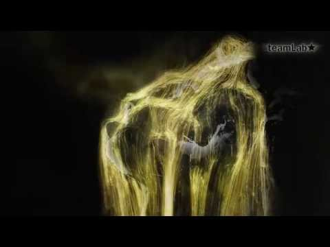 Universe of Water Particles – Gold / 憑依する滝 – Gold