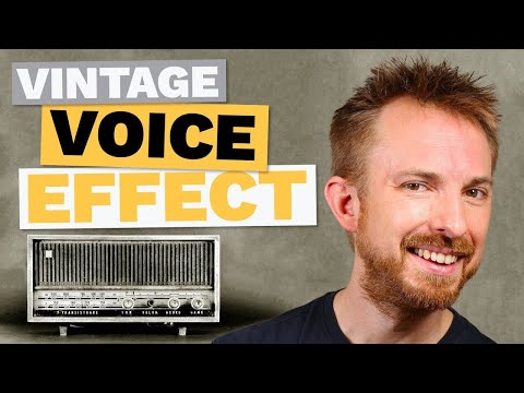 Vintage Effect for Voice Over (Black & White Film/Old Vinyl)