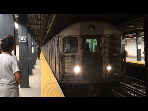 IND Central Park West Line: Bklyn and 168th Street bound (C) Local Trains @ 163rd St (R32, R160A-1)