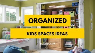 50+ Creative Organized Kids Spaces Ideas for Kids Room