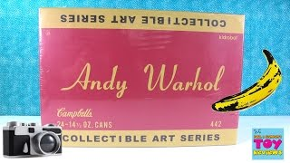 Andy Warhol Collectible Art Series Soup Cans Full Case Opening | PSToyReviews