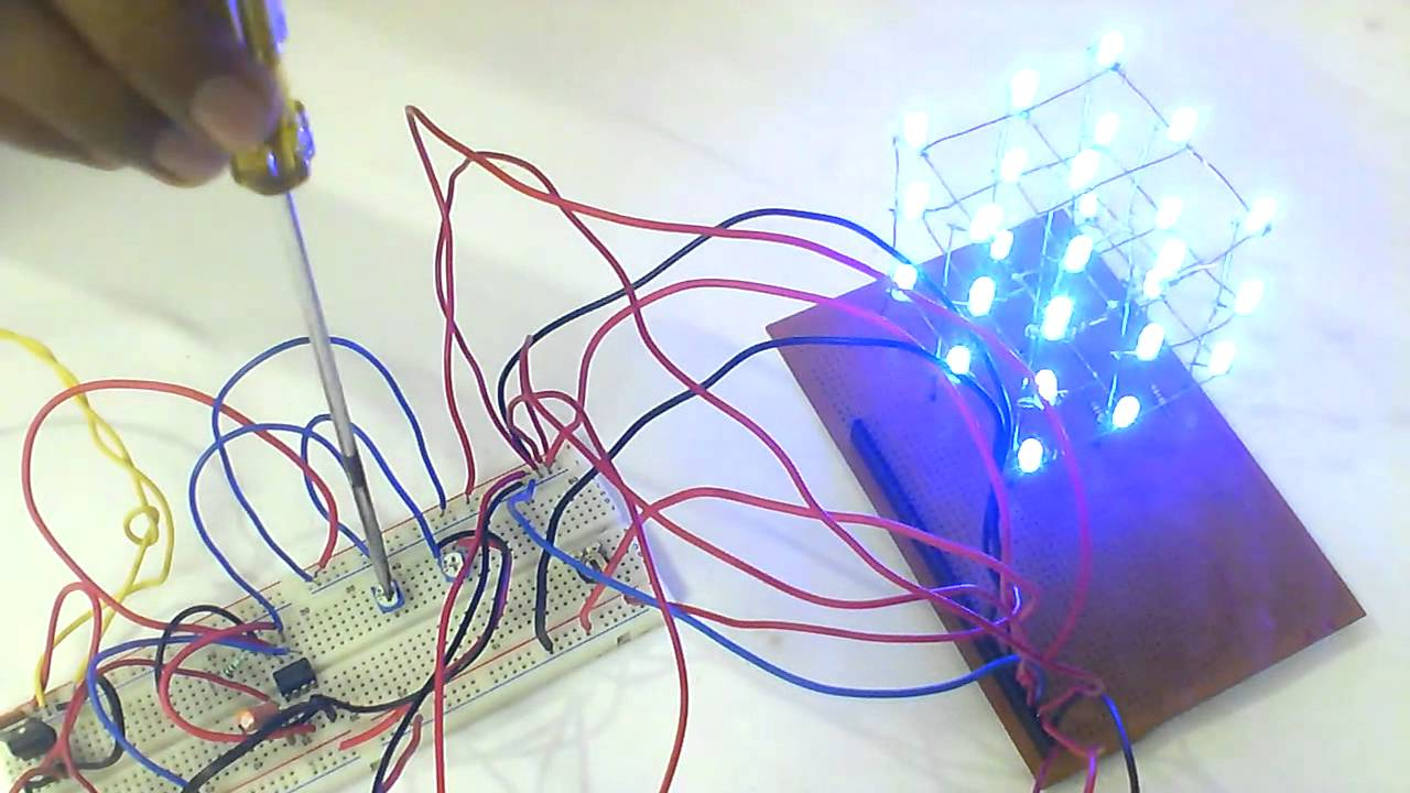 A Low Cost 333 Led Cube Using 555 Timer Ic In Astable Mode The Monostable Circuit More Detail Operation Youtube