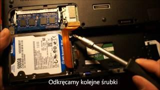 Jak zmienić dysk twardy lub pamięć RAM w laptopie Sony VAIO SB?