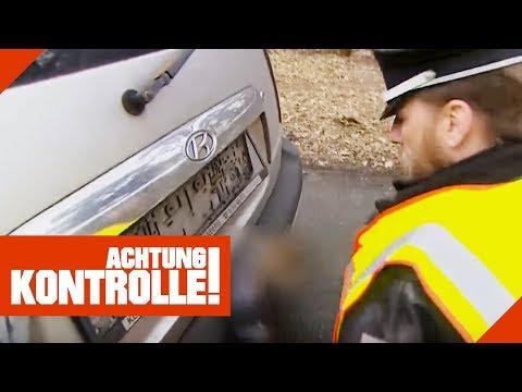 Polizei baut Kennzeichen bei Verkehrskontrolle ab! Was ist passiert? | Achtung Kontrolle