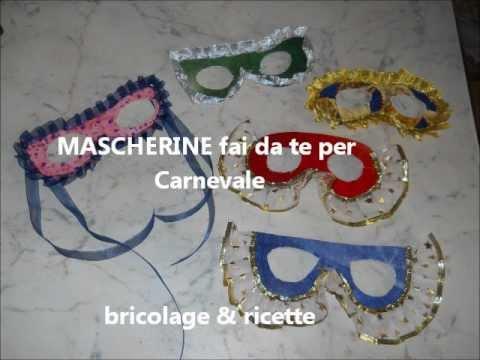 Mascherine fai da te per carnevale youtube for Casette per conigli fai da te