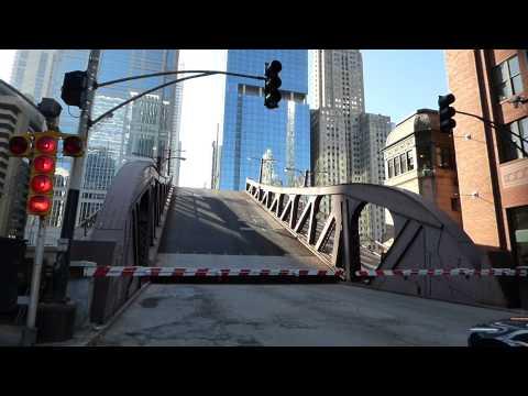 Raising bridge in Chicago