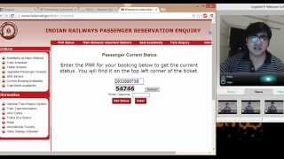 How to Check Status of Rail ticket without login in IRCTC website
