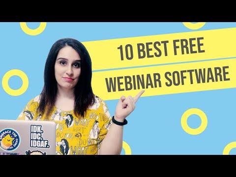 10 Best Free Webinar Software (Features & Benefits) in 2020
