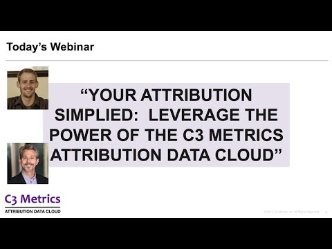 Attribution Modeling with the Attribution Data Cloud™