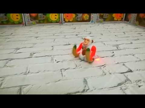 Jumping Banana Monkey funny Orangutan toy battery operated with music