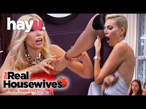 Aviva Throws Her Prosthetic Leg In Anger! | The Real Housewives of New York City