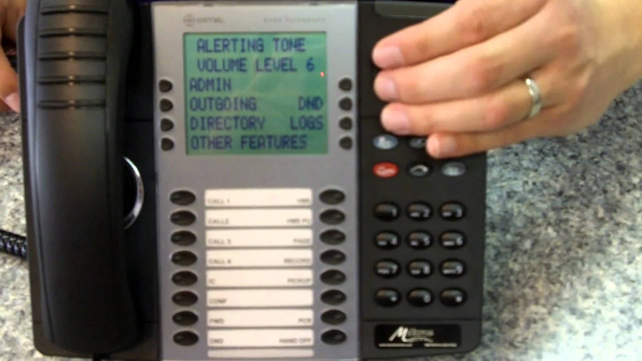 Mitel 8568 Volume Bar Youtube