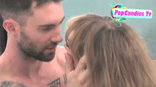Adam Levine & Anne Vyalitsyna Get Sexy @  Never Gonna Leave This Bed  Video Shoot In Hollywood!