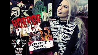 October 2017 Unboxing - Creeper Crate, Horror Pack, Fright Crate