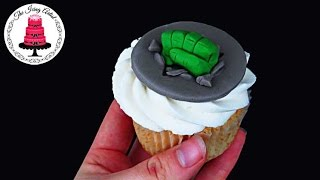 HULK SMASH Fist Cupcake Topper - How To With The Icing Artist