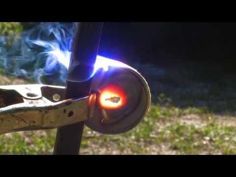 FRESNEL LENS EXTREME Solar 3000˚ F Sunlight Melting a Burning Stuff with the Sun