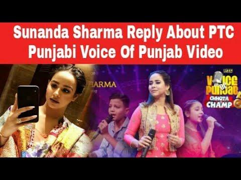 Sunanda Sharma Reply About PTC Punjabi Voice Of Punjab Judge Viral Video