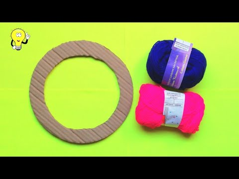 woolen-wall-hanging-craft---room-decorating-ideas-simple---wall-hanging-craft-ideas-with-cardboard