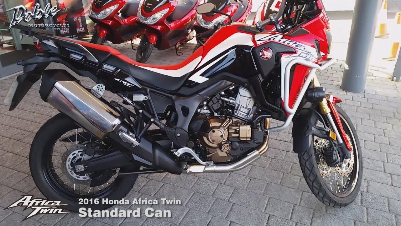 2016 honda crf1000l africa twin   standard exhaust   youtube