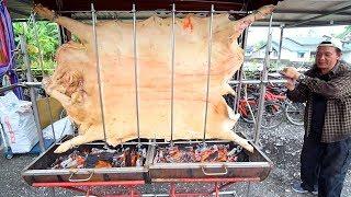 TAIWANESE BBQ - HUGE Aboriginal Pig Roast + STREET FOOD in Taiwan   Taiwanese Street Food in Hualien