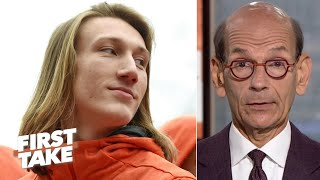 Clemson is burdened by the Trevor Lawrence hype - Paul Finebaum | First Take