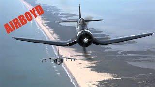 Corsair And Harrier In Flight - Cherry Point