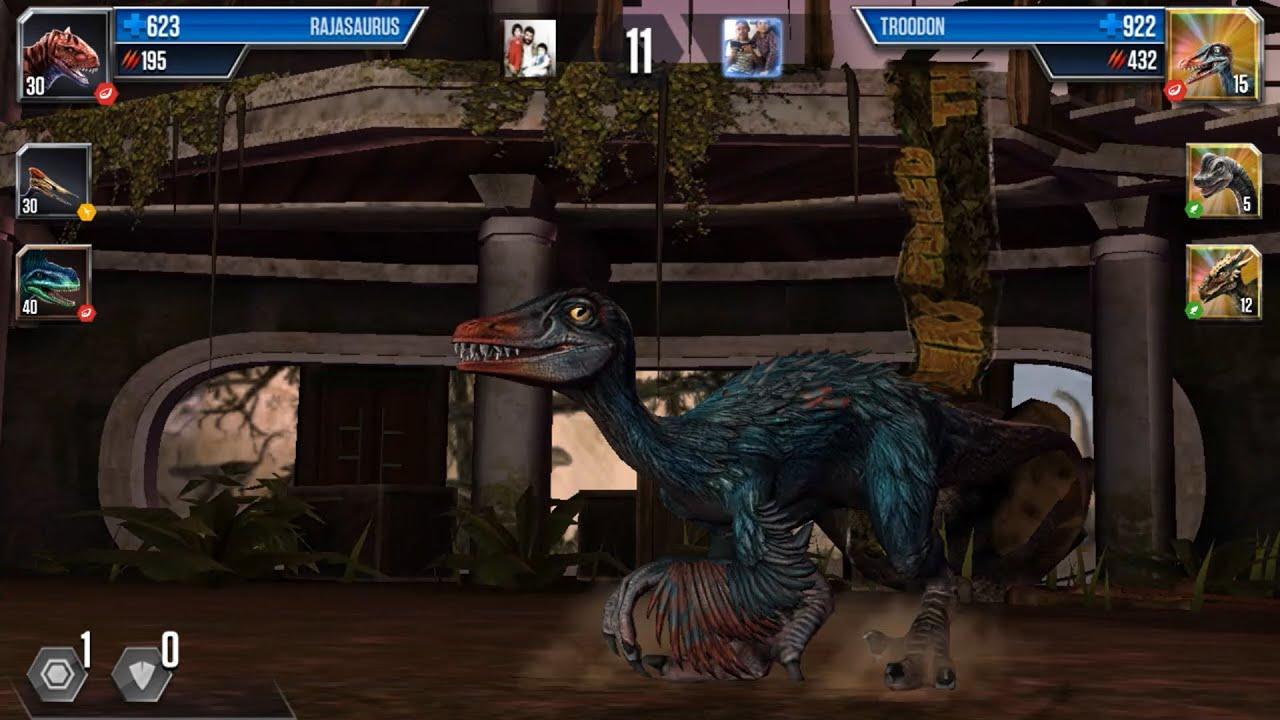 Troodon vs Rajasaurus - Dinosaurs Battle #383