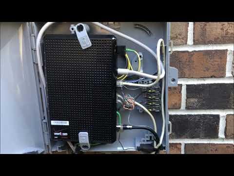 Inside A Verizon Fios Box (ONT-Demarc) (Speedtest)