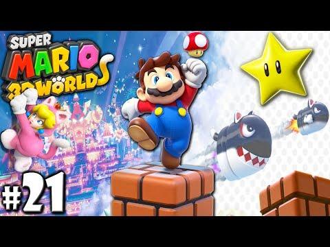 Super Mario 3D World: 2P Co-Op! - Killer Cat Walk PART 21 (Nintendo Wii U HD Gameplay Walkthrough)