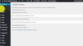 How To Update Wordpress Plugins, Wordpress Themes and the Wordpress Core files