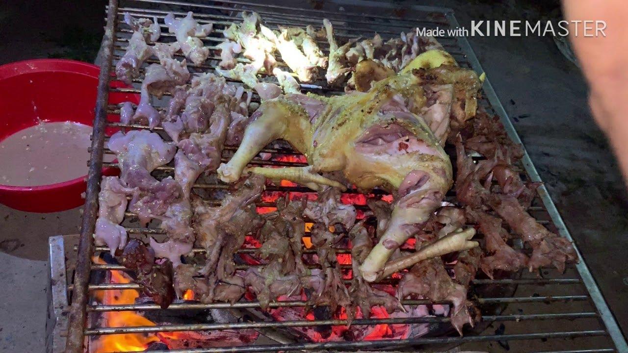 Giỏi Vlogs – Làm Thịt Gà Nướng Muối Sả Ớt Siêu Cay Sẻ NTN