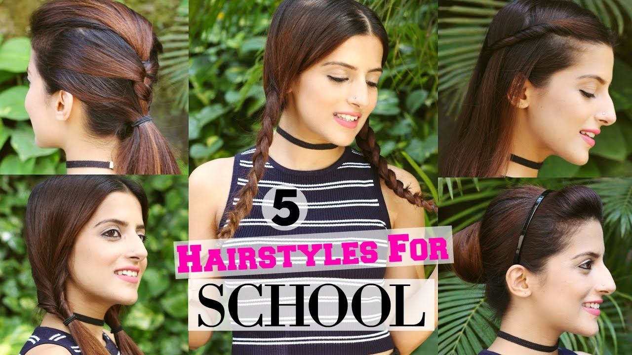 5 Quick Easy 1 Min Hairstyles For School College Hairstyles