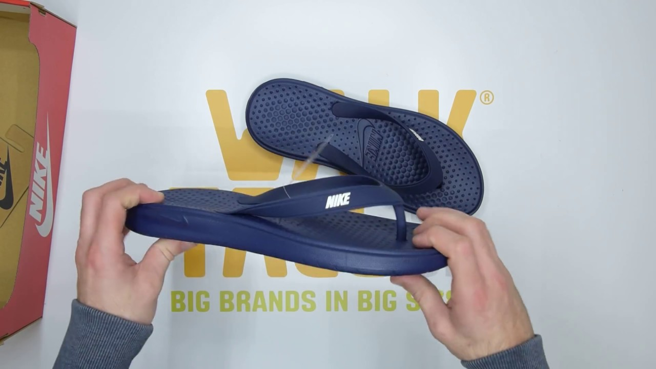 Nike Solay Thong Navy White Unboxing Walktall Youtube