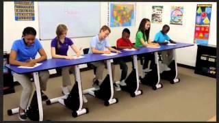6 Person Pedal Desk