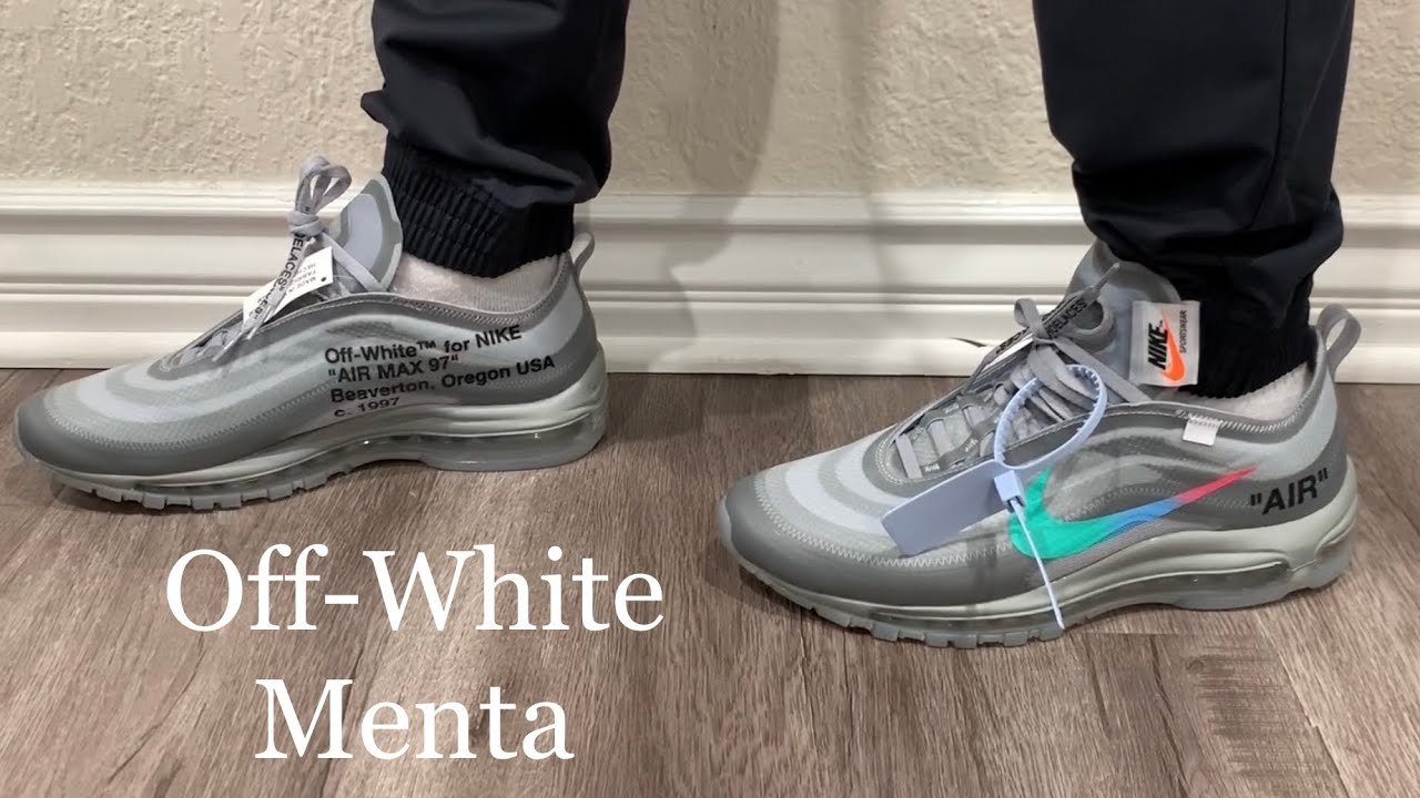 air max 97 off white menta on feet
