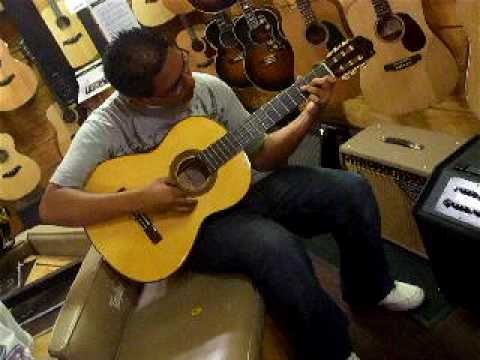 pablo playing the guitar