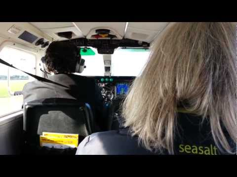 Landing at Jersey Airport in Aurigny Trislander
