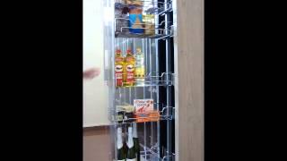 Columna despensero deslizante para armario de cocina
