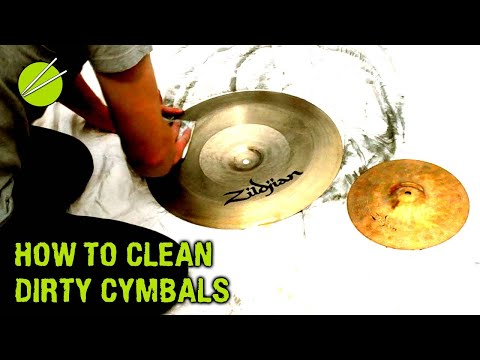 How to Clean Cymbals using Brasso [3]
