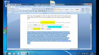 Online Video Tutorial - ECDL Module 3 Microsoft Word Tutorial 2