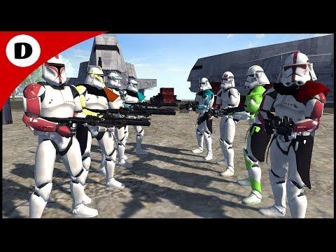 RICOS BRIGADE vs DALEY SQUAD - Men of War: Star Wars Mod |