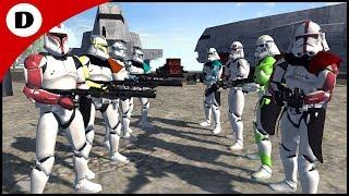 RICOS BRIGADE vs DALEY SQUAD - Men of War: Star Wars Mod