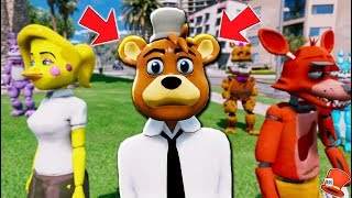 NEW ANIMATRONIC HIGH SCHOOL TOY FREDDY! (GTA 5 Mods For Kids FNAF RedHatter)
