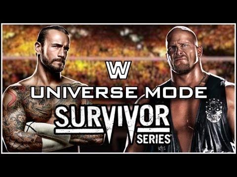 WWE 13 Universe Mode - Survivor Series 2013 Full PPV (RAW, Smackdown & ECW!)