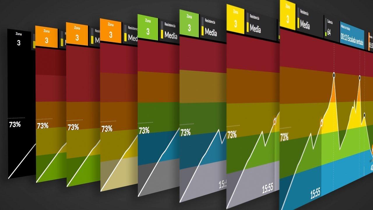 personalización de colores en la gráfica y resumen del entrenamiento